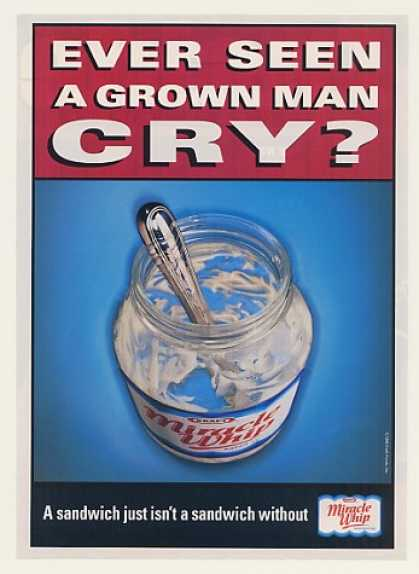 Seen Grown Man Cry Kraft Miracle Whip Empty Jar (1999)