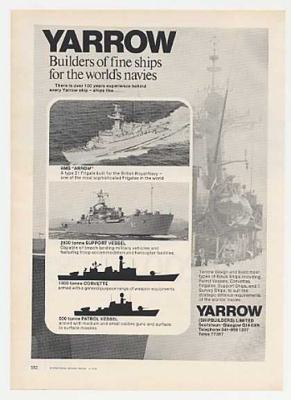 Yarrow HMS Arrow Support Vessel Navy Ship Photo (1976)