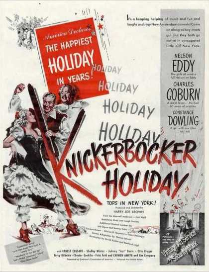 Knickerbocker Holiday Move Promo (1944)