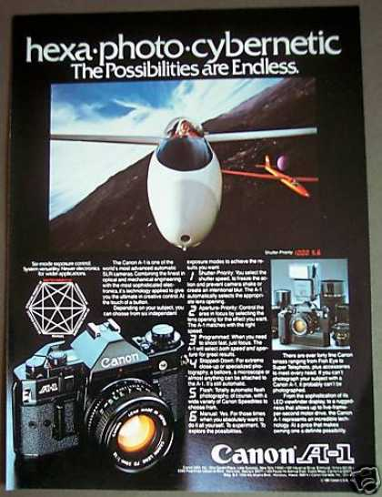 Canon A-1 Slr Camera Airplanes (1981)