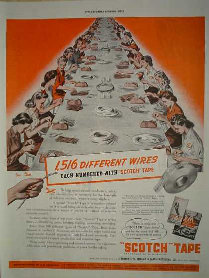 Scotch Tape 1516 Wires Assembly Line (1942)