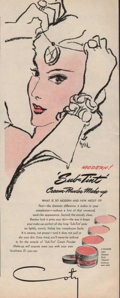 Coty Cream Powder Make Up (1942)