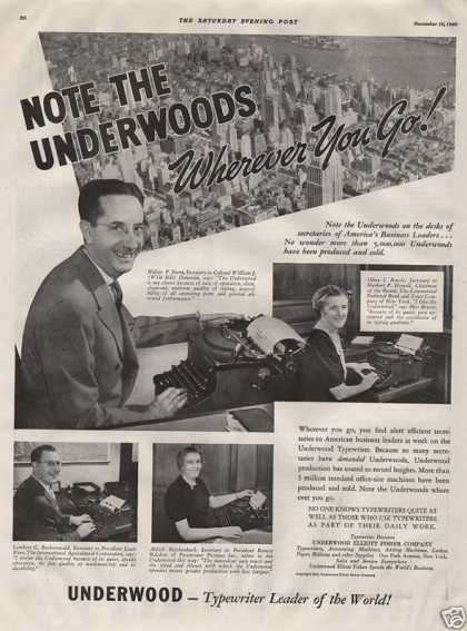 Underwood Typewriter Leader (1940)