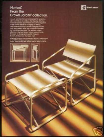 Brown Jordan Nomad Chair Photo Print Vintage (1979)