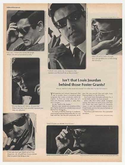 Louis Jourdan Photos Foster Grant Sunglasses (1965)