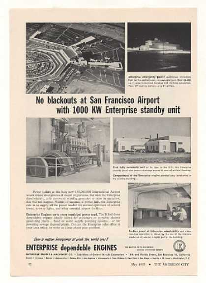 San Francisco Airport Enterprise Engine Power (1955)