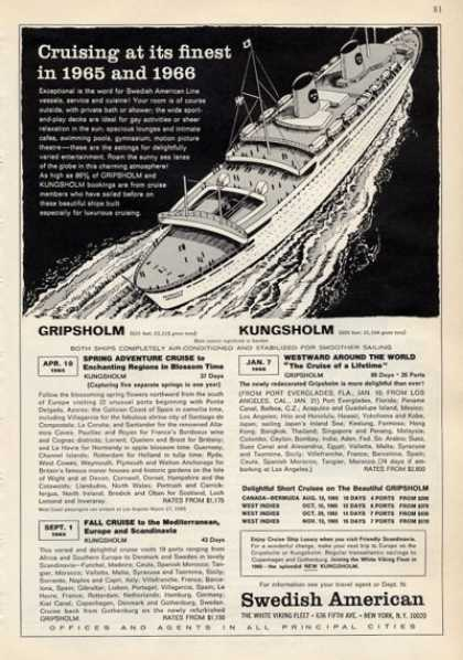 Swedish American Cruise Ship Boat (1965)