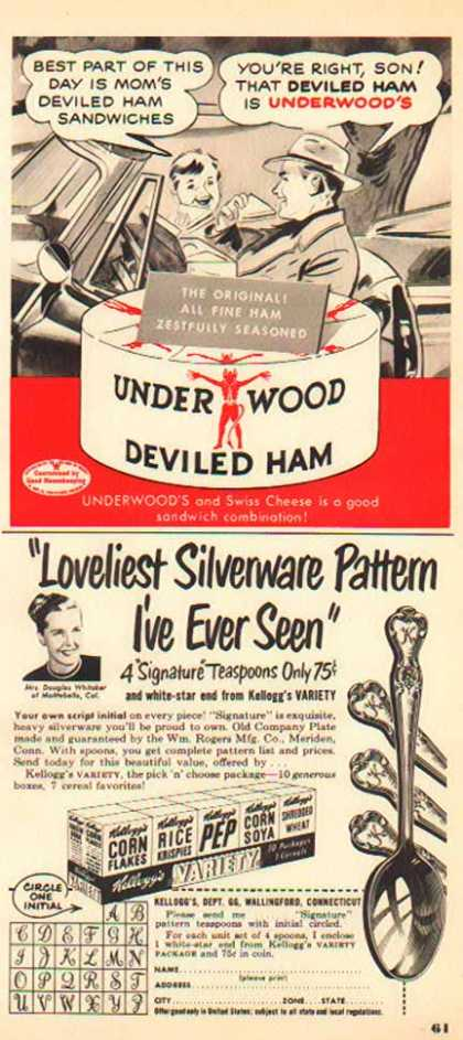Underwood Deviled Ham & Kellogg's – Sold (1950)