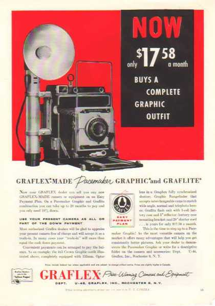 Graflex Crown Graphic Camera – $17.58 in (1956)
