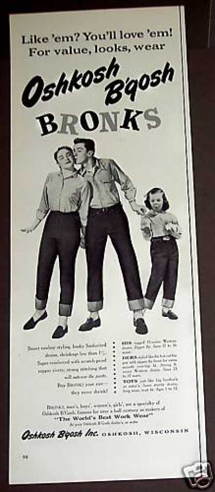 Oshkosh B'qosh Bronks Children Denim Jeans (1954)