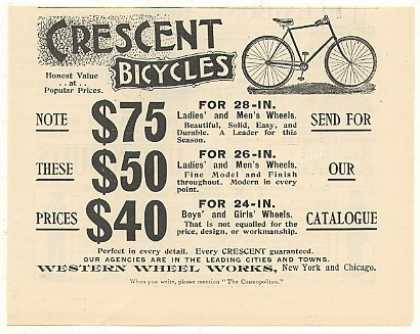 Crescent Bicycles Western Wheel Works (1894)