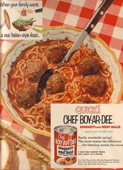 Chef Boy-Ar-Dee's Spaghetti and Meat Balls with Tomato Sauce (1953)