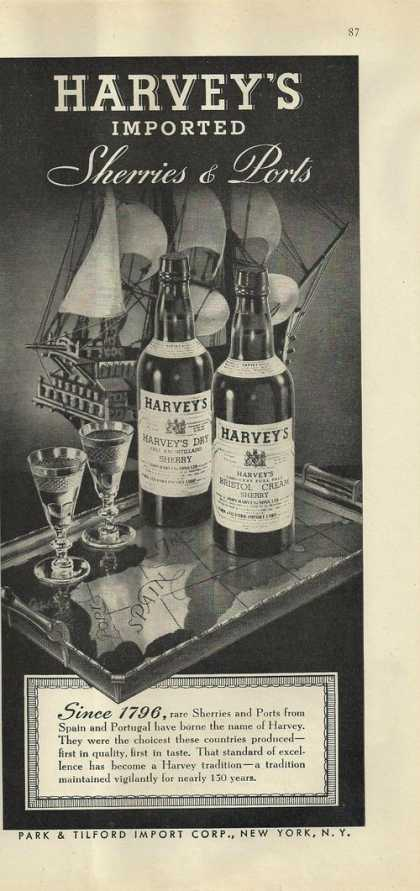Harveys Imported Sherries & Ports (1946)