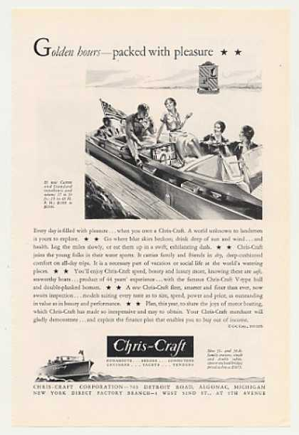 Chris-Craft Boat Golden Hours Packed Pleasure (1931)
