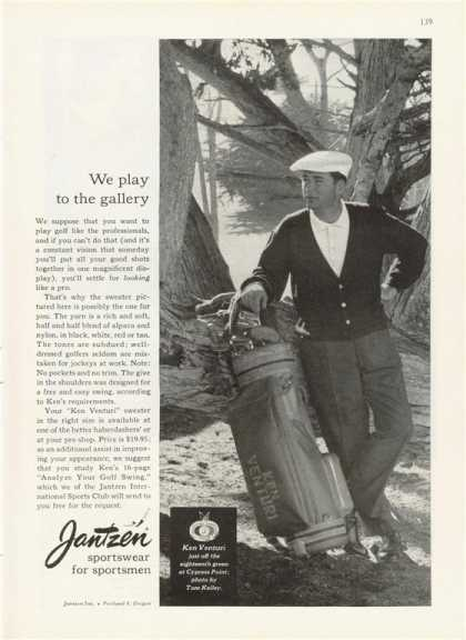 Jantzen Sportswear Golf Bag Clubs (1959)