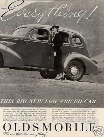 Oldsmobile Car Ad 2 Page (1935)