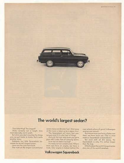 VW Volkswagen Squareback World's Largest Sedan (1968)