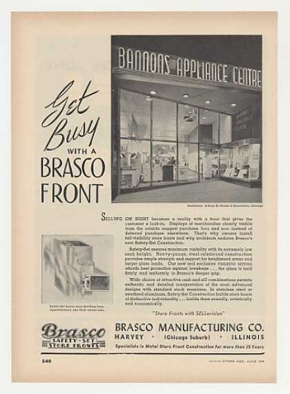 Bannons Appliance Centre Brasco Store Fronts (1948)