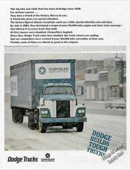 "Large Dodge Truck In Snow Storm ""Tough Trucks"" (1967)"
