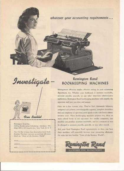 Remington Rand Bookkeepin (1948)