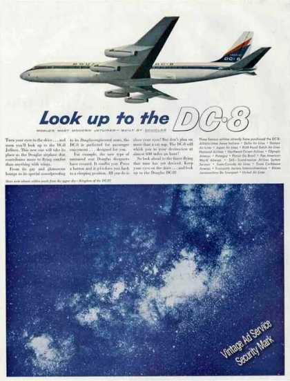 Dc-8 Beautiful Color Photo Douglas (1959)