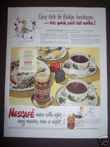Original Playing Cards Bridge Nescafe (1949)
