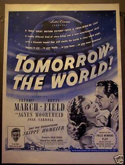 Movie Promo Ad Tomorrow : The World Betty Field (1945)
