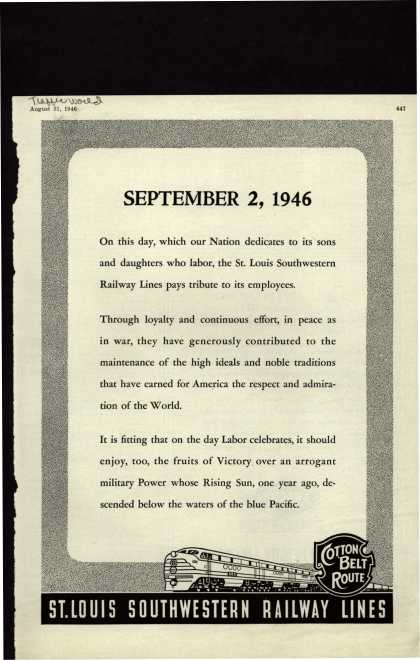 St. Louis Southwestern Railway Line's Labor Day Tribute – September 2, 1946 (1946)