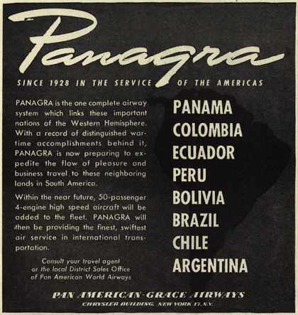 Pan American Grace Airway's South America – Panagra since 1928 in the service of the Americas (1946)