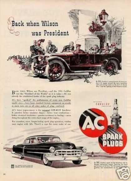 Ac Spark Plugs Ad Cadillac Car (1952)
