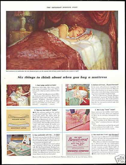 Simmons Beautyrest Mattress Vintage (1941)