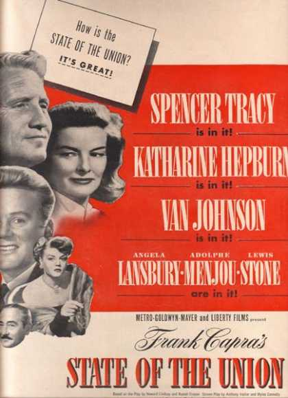 State of the Union (Spencer Tracy, Katharine Hepburn, Van Johnson and Angela Lansbury) (1948)
