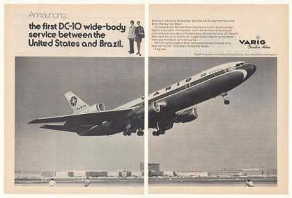 Varig Airlines DC-10 Wide-Body Jet Photo 2-Page (1974)