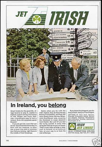 Irish International Airlines Galway City Signs (1966)