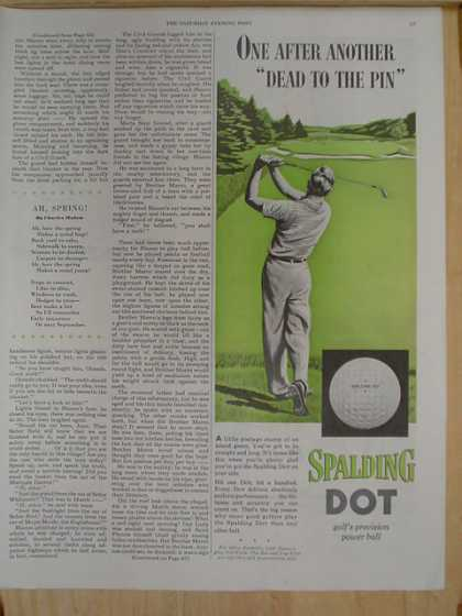 Spalding Dot Golf Balls. Dead to the pin (1952)