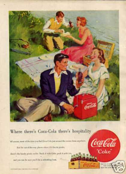 "Coca-cola Ad ""Where There's Coca-cola... (1949)"