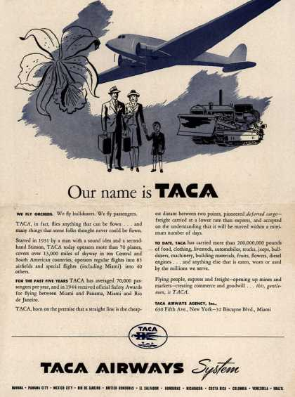 TACA Airways System's Taca Airways System – Our name is TACA (1945)