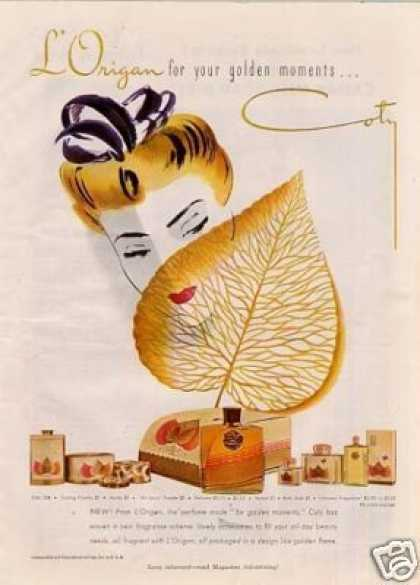 Coty L&#8217;origan Perfume (1943)