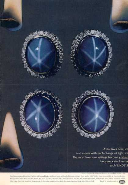 Linde Star Diamond Cluster Setting (1963)