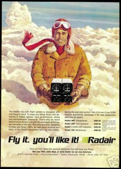 Radair Nav-Com Airplane Equipment Pilot (1972)