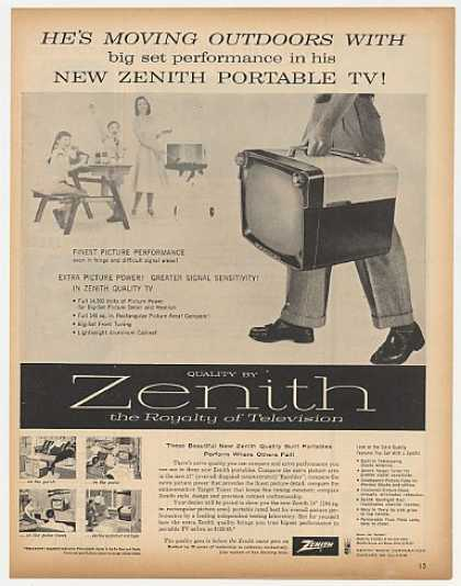 Zenith Rambler Model Z-1819JZ Portable TV (1957)