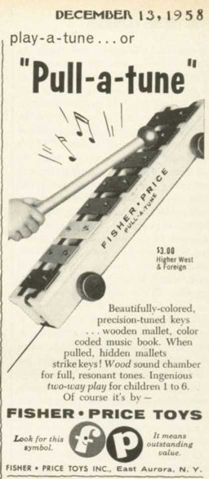 Fisher Price Toy Musical Pull-a-tune (1958)