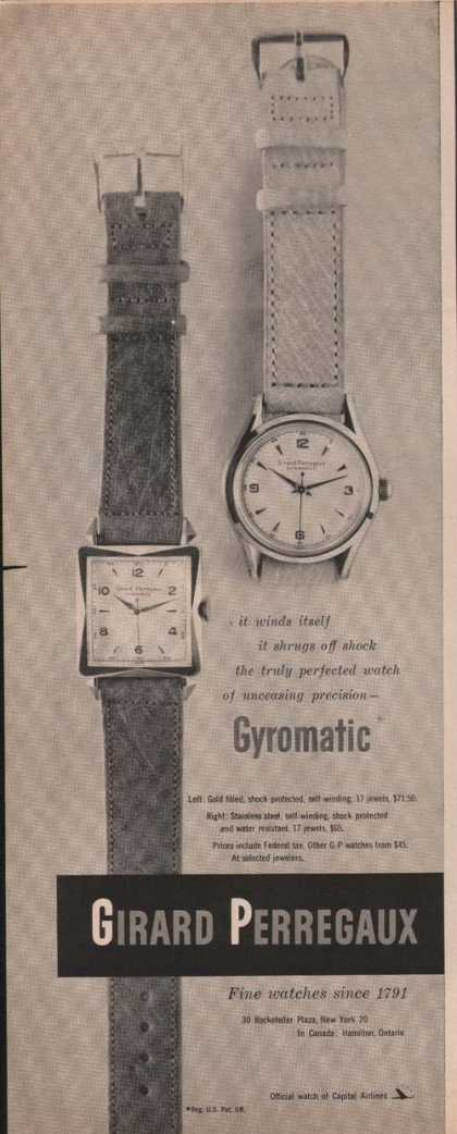 Girard Perregauz Gyromatic Watch (1951)