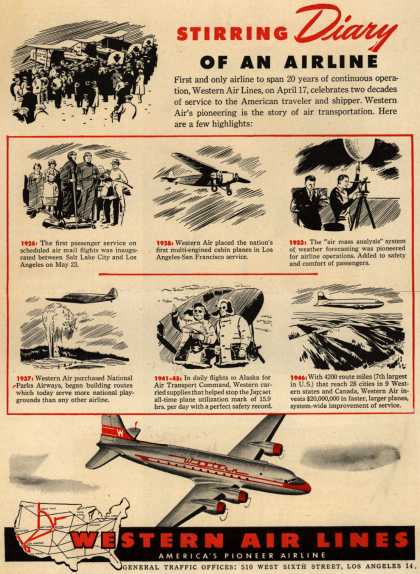 Western Air Lines – Stirring Diary Of An Airline (1946)