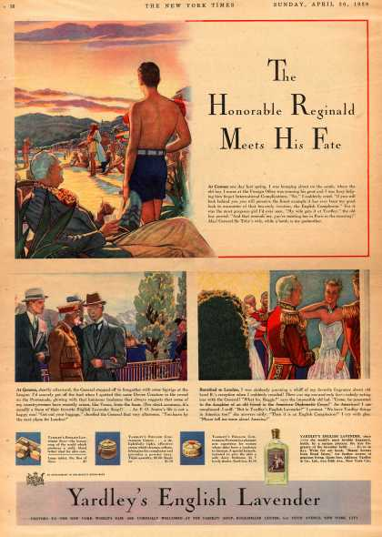 Yardley & Co., Ltd.'s English Lavender – The Honorable Reginald Meets His Fate (1939)