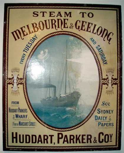 Australia – Huddart Parker & Co Steam Ships Sydney