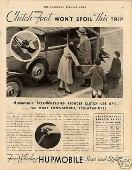 "Hupmobile Car Ad ""Clutch Foot Won't... (1931)"