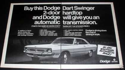 "Dodge Dart Swinger, ""Sporty Styling"" (1970)"