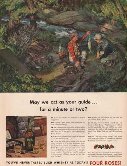 May We Act As Your Guide Four Roses Whiske (1942)