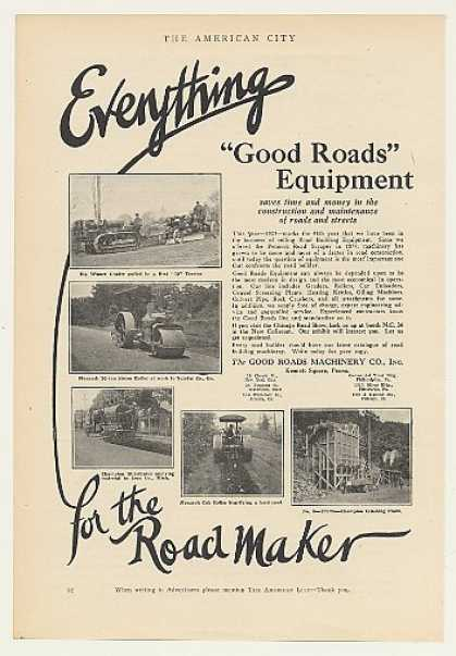 Good Roads Grader Steam Roller Road Equipment (1925)